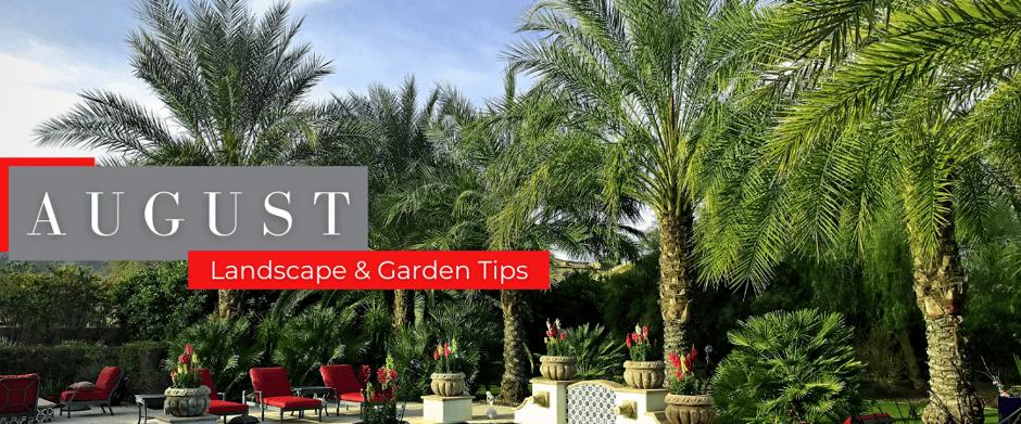 August Landscape & garden tips header