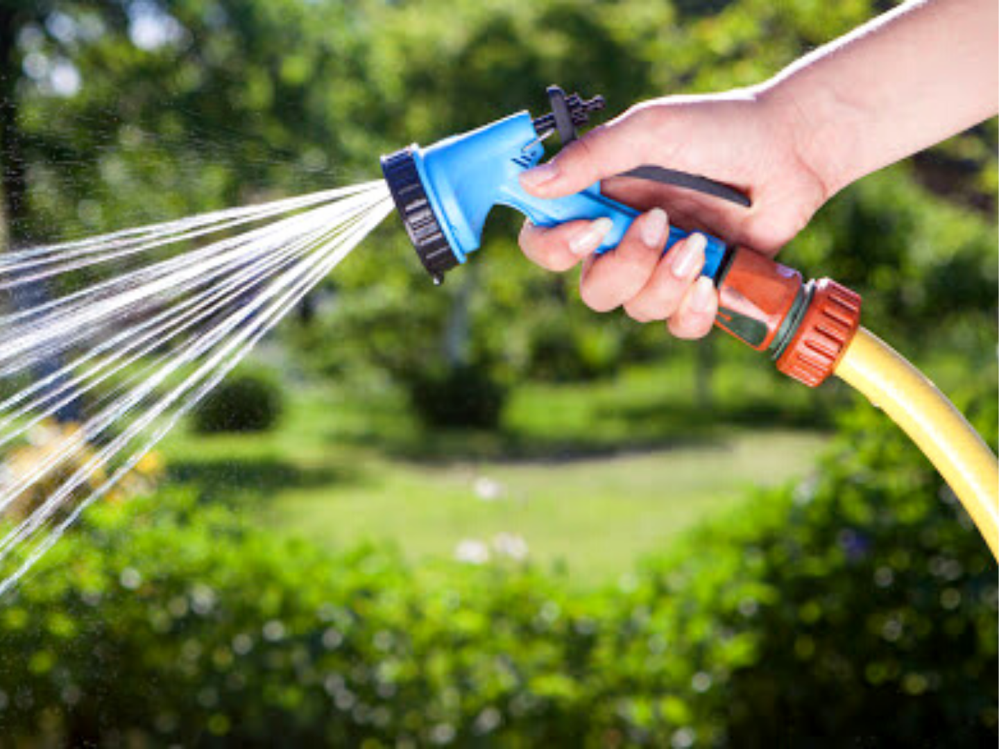 Watering from hose end sprayer