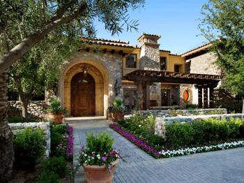 Mediterranean front yard