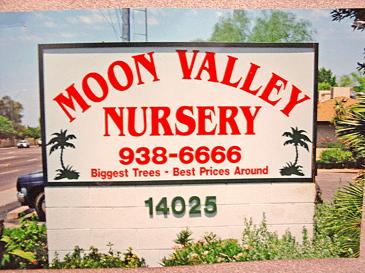 first moon valley nurseries sign