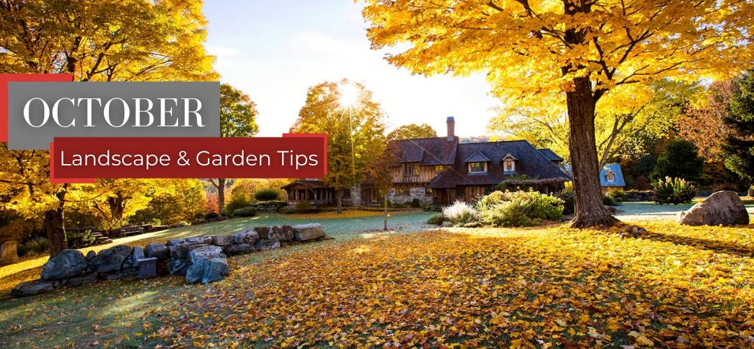 October landscape and garden tips header