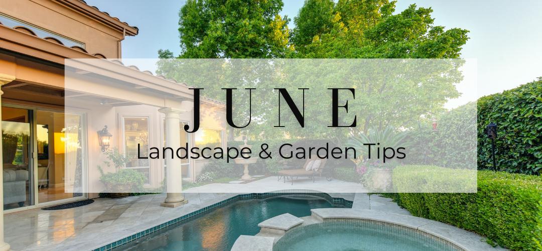June landscape and garden tips header