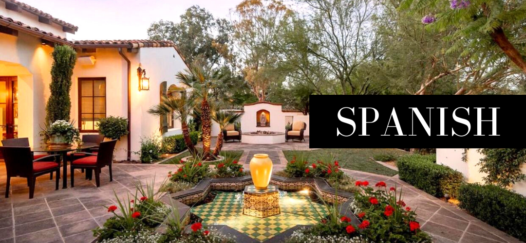 A Spanish styled yard and patio