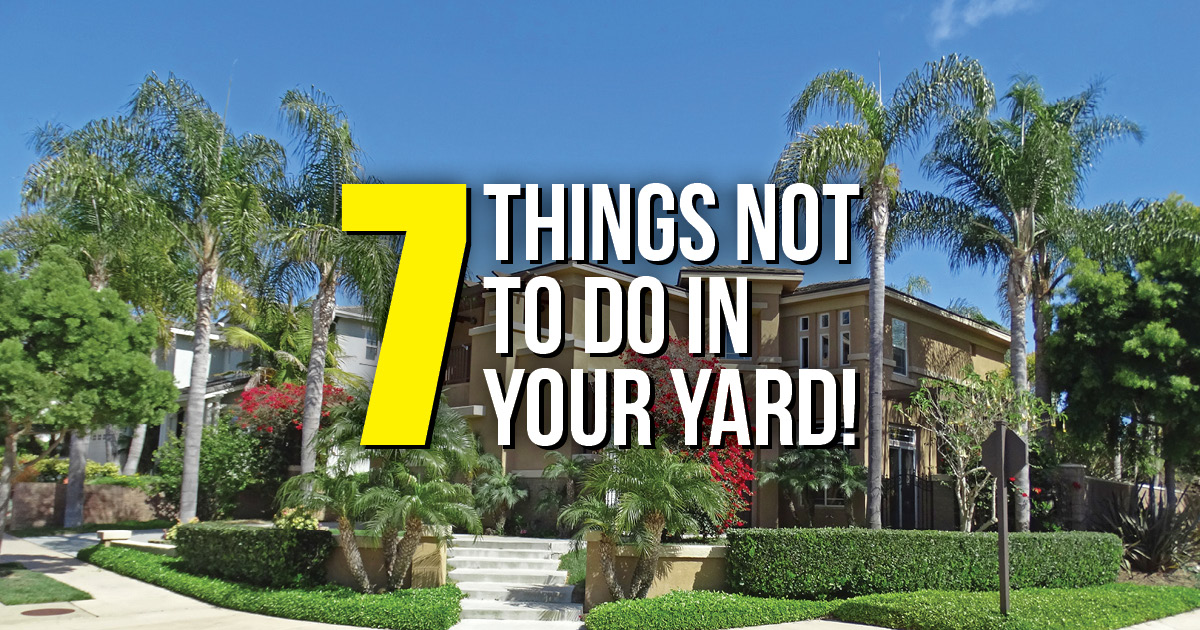 BLOG Things NOT to Do in Your Yard CA