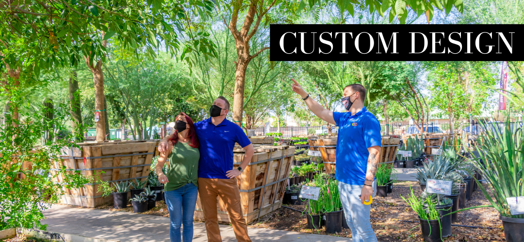 Professional landscape designers work safely and create custom designs.